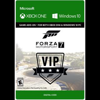 Forza Motorsport 7 VIP [ Microsoft Xbox One / PC Windows 10 ] [ DLC Key ] [ Region: U.S. ] [ Instant Delivery ]