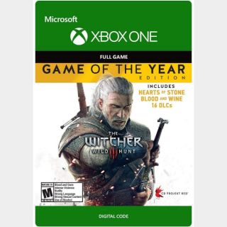 The Witcher III 3: Wild Hunt - Game of the Year Edition [Xbox One, X|S] [Full Game Key] [Region: U.S.] [Instant Delivery]