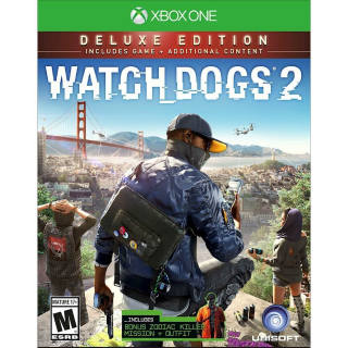 Watch Dogs 2 - Deluxe Edition [Microsoft Xbox One] [Full Game Key + DLC] [Region: U.S.] [Instant Delivery]
