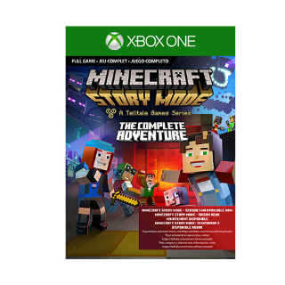 Minecraft Story Mode Complete Adventure [ Microsoft Xbox One ] [ Full Game Key ] [ Region: U.S. ] [ Instant Delivery ]