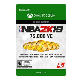 NBA 2K19 75,000 Virtual CurrencyVC [ Microsoft Xbox One ] [ In-game Currency Key ] [ Region: U.S. ] [ Instant Delivery ]