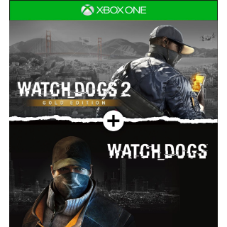 Watch Dogs 1 + Watch Dogs 2 Gold Editions Bundle [ Microsoft Xbox One ] [ Full Game Key ] [ Region: U.S. ] [ Instant Delivery ]