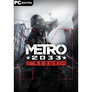 Metro 2033 Redux [ PC, Mac, Linux / Steam ] [ Full Game Key ] [ Region: Global ] [ Instant Delivery ]