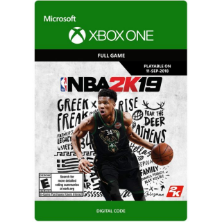 NBA 2K19 [ Microsoft Xbox One ] [ Full Game Key ] [ Region: U.S. ] [ Instant Delivery ]