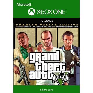 Grand Theft Auto V 5: Premium Online Edition [ Microsoft Xbox One ] [ Full Game Key ] [ Region: U.S. ] [ Instant Delivery ]