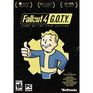 Fallout 4 Game of the Year Edition GOTY [ PC / Steam ] [ Full Game Key ] [ Region: Global ] [ Instant Delivery ]