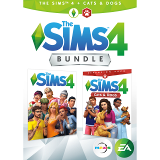 The Sims 4 Plus Cats & Dogs Bundle [ PC, Mac / Origin ] [ Full Game Key ] [ Region: U.S. ] [ Instant Delivery ]