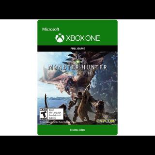 Monster Hunter: World [ Microsoft Xbox One ] [ Full Game Key ] [ Region: U.S. ] [ Instant Delivery ]