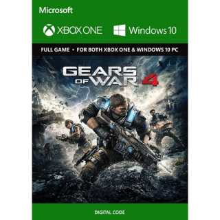 Gears of War 4 [ Microsoft Xbox One / PC Windows 10 ] [ Full Game Key ] [ Region: Global ] [ Instant Delivery ]