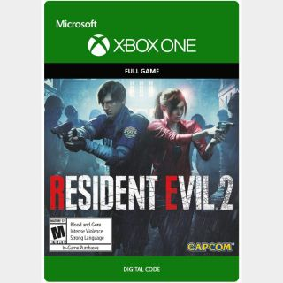 RESIDENT EVIL 2 [Microsoft Xbox One, X|S] [Full Game Key] [Region: U.S.] [Instant Delivery]