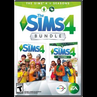 Sims 4 PLUS Seasons Bundle [ PC / Origin ] [ Full Game Key ] [ Region: U.S. ] [ Instant Delivery ]