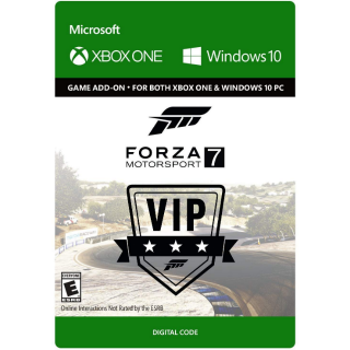 Forza Motorsport 7 VIP [ Microsoft Xbox One / PC Windows 10 ] [ DLC Key ] [ Region: U.S. ] [ Instant Delivery ]