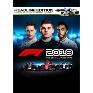 F1 2018 Headline Edition [ PC / Steam ] [ Full Game Key ] [ Region: Global ] [ Instant Delivery ]