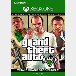 Grand Theft Auto V 5: Premium Online Edition & Great White Shark Card Bundle [Xbox One, X|S] [Key] [Region U.S.] [Instant]
