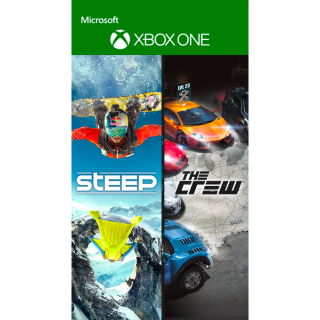 Steep and The Crew Bundle [ Microsoft Xbox One ] [ Full Game Keys ] [ Region: U.S. ] [ Instant Delivery ]