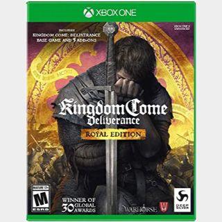 Kingdom Come: Deliverance - Royal Edition [Microsoft Xbox One, X|S] [Full Game Key + DLC] [Region: U.S.] [Instant Delivery]