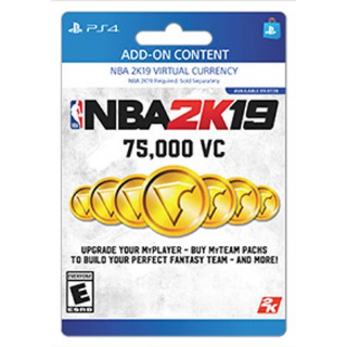 NBA 2K19 75,000 Virtual Currency VC [ Sony PlayStation 4 / PS4 ] [ In-game Currency Key ] [ Region: U.S. ] [ Instant Delivery ]