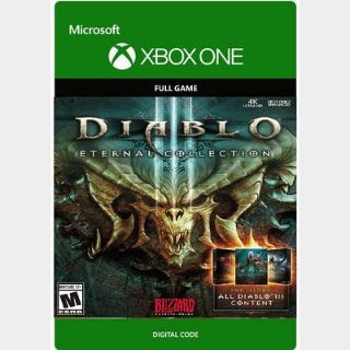 Diablo III 3: Eternal Collection [Microsoft Xbox One, X|S] [Full Game Key + DLC] [Region: U.S.] [Instant Delivery]