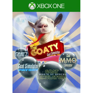 Goat Simulator: The GOATY Bundle [ Microsoft Xbox One ] [ Full Game Key + DLC ] [ Region: U.S. ] [ Instant Delivery ]