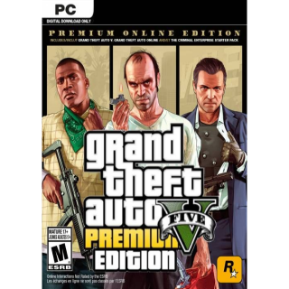 Grand Theft Auto V 5 Premium Online Edition & Great White Shark Card Bundle [ PC / Social Club Key ] [ Global ] [ Instant ]