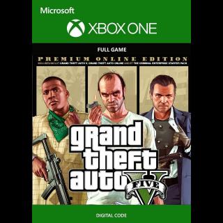 Grand Theft Auto V 5: Premium Online Edition [ Microsoft Xbox One ] [ Full Game Key ] [ Region: U.S. ] [ Instant Delivery ]