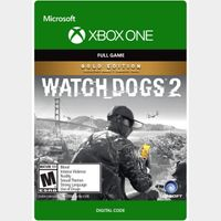 Watch Dogs 2 - Gold Edition [Microsoft Xbox One] [Full Game Key] [Region: U.S.] [Instant Delivery]