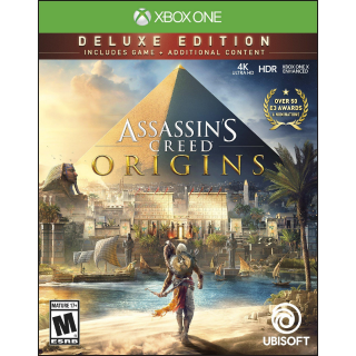 Assassin's Creed Origins - DELUXE EDITION [ Microsoft Xbox One ] [ Full Game Key ] [ Region: U.S. ] [ Instant Delivery ]