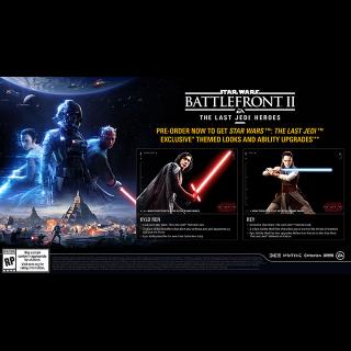 Star Wars Battlefront II 2 Pre-Order Bonus [ Sony PlayStation 4 ] [ DLC Key ] [ Region: North America ] [ Instant Delivery ]