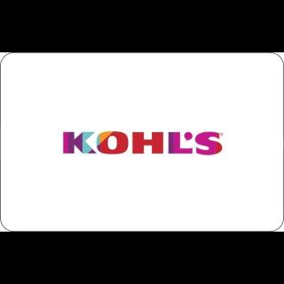 $50.00 Kohl's Cash