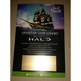 Sea Of Thieves Spartan Ship Livery Inspired by HALO E3 2019