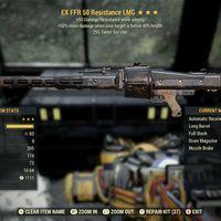 Weapon   EXC FFR +50 DMG LMG