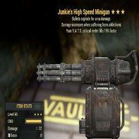 Weapon   JE 15 Vats Minigun