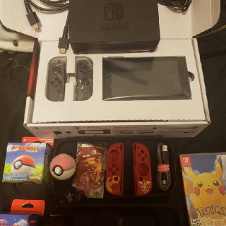 Nintendo Switch With Game And Cases