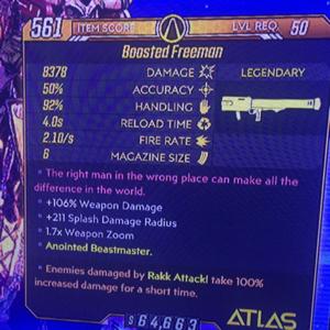 Weapon   OP Freeman Rakk Attack