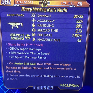 Weapon | Kybs Worth x3  / 125