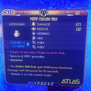 Grenade | MIRV Hex / Bonus Radiation