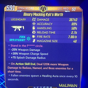 Weapon | Kybs Worth / Cryo/Radiation / ASE 125