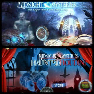 Midnight Mysteries 1 and Midnight Mysteries 4 Haunted Houdini