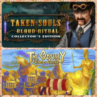 Taken Souls: Blood Ritual Collector's Edition and The Odyssey: Winds of Athena