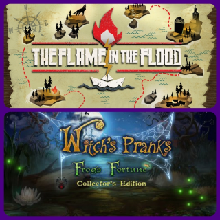 THE FLAME IN THE FLOOD and Witch's Pranks: Frog's Fortune Collector's Edition