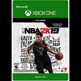 NBA 2K19 Xbox One Key/Code Global