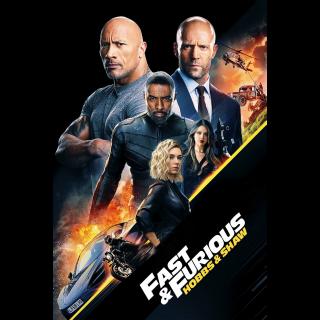 Fast & Furious Presents: Hobbs & Shaw   HDX   VUDU