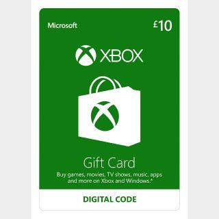 Xbox Gift Card 10 GBP Xbox Key/Code UK Account
