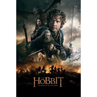 The Hobbit: The Battle of the Five Armies | HDX | VUDU or HD iTunes via MA