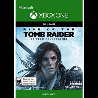 Rise of the Tomb Raider 20 Year Xbox One Key/Code Global