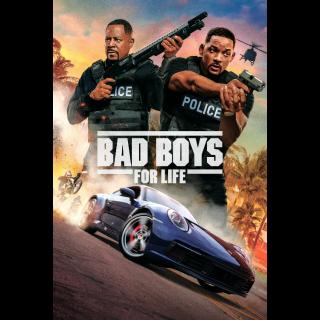 Bad Boys for Life Digital Code | SD | VUDU or SD iTunes via MA