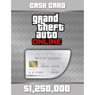 Grand Theft Auto Online (GTA V 5): Great White Shark Cash Card PC Key/Code Global