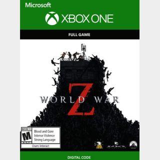 World War Z Xbox One Key/Code US
