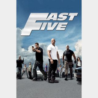 Fast Five Extended Edition | HDX | UV VUDU or HD iTunes via MA