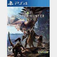 Monster Hunter World PS4 Key/Code USA/CANADA